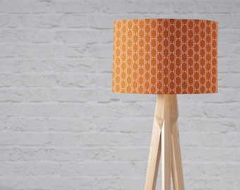 Orange lamp shade etsy orange lampshade rust decor burnt orange lampshade orange geometric orange nursery rust lamp shade orange light shade orange home aloadofball Images