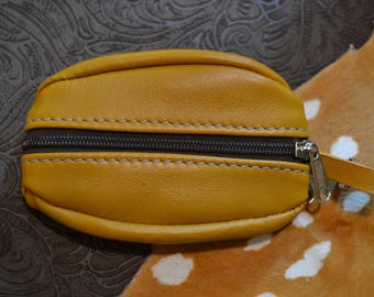 Coin / double sided camel leather
