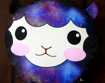 Kawaii Galaxy Alpaca Pillow