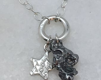 Star Meteorite Necklace | tiny star necklace | romantic necklace | small good luck gift | good luck gift ideas | good luck necklace