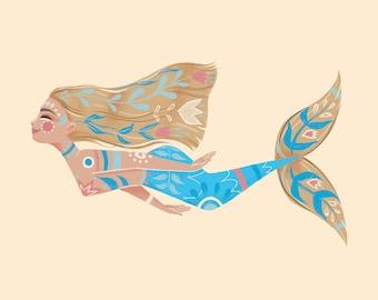 Painted Mermaid, blonde