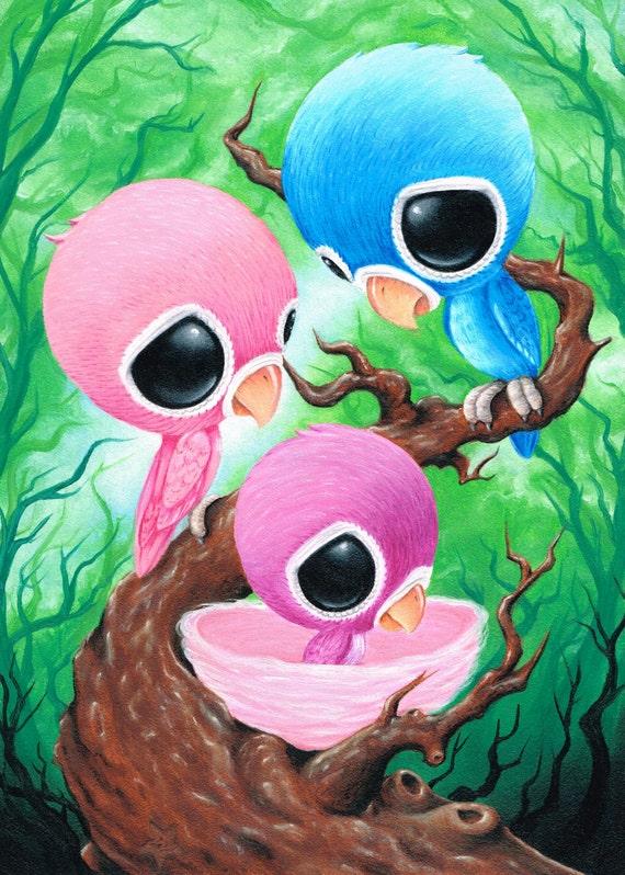 Azúcar alimentado Agapornis aves animales familia recién