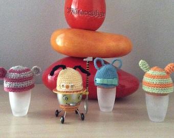 Crochet egg hats