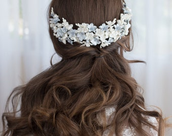 Blossoms headpiece. Bridal headpiece. Bridal floral headpiece. Wedding headpiece. Boho floral headpiece. Style 560