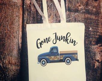 Gone Junkin' tote bag