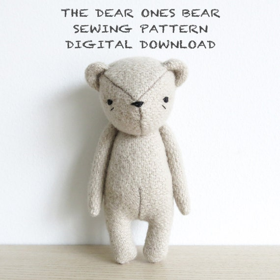 sewing pattern the dear ones bear soft toy pdf pattern