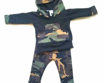 SALE! Camo baby boy hoodie outfit, baby boy camo hoodie, camping hoodie, baby hunting hoodie, outdoor baby hoodie, camouflage  hoodie