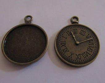 bronze color pendant for cabochon 25mm
