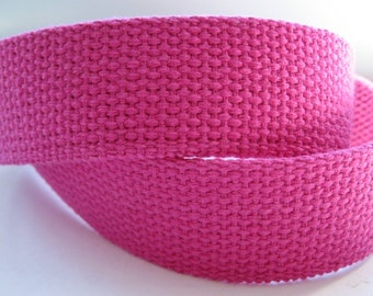 Fuchsia Cotton Webbing For Handbags Totes Key Fobs Belting Strapping