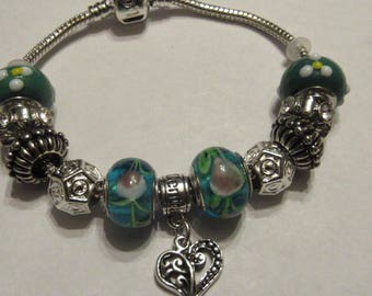 Sale!!European charm bracelet heart