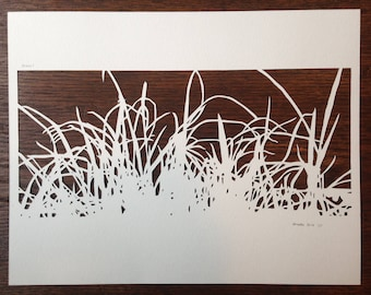 Grasses 1 -- Hand-Cut Paper Silhouette of Grass