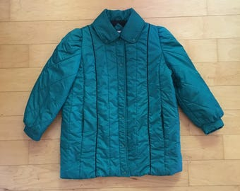 Vintage 80s Winter Coat Puffy Snow Jacket