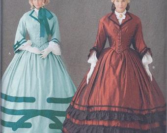 Simplicity 1818 Misses Women's Victorian Civil War Era Costume Dress UNCUT Sewing Pattern