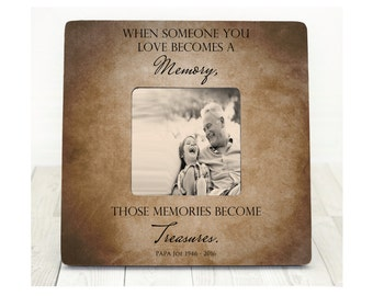 Because someone we love is in Heaven Memory Picture Frame Personalized Sympathy Gift In Memory of Memorial Frame
