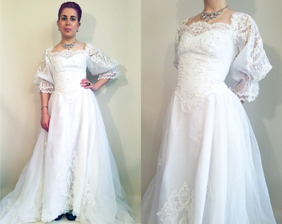80s wedding dress vintage wedding dress 80s victorian princess junglespirit Choice Image