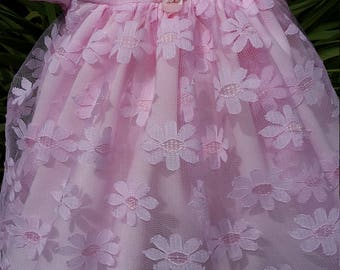Pink Daisy Lace Baby Dress
