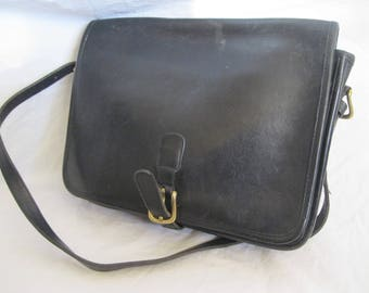 Black Leather Coach 8513 Shoulder Bag Made in New York City USA