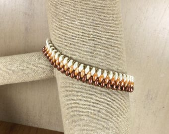 Ombre Beaded Bracelet with Magnet Clasp