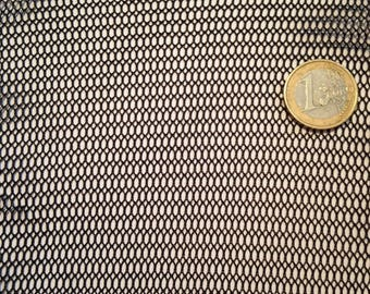 Black mesh fabric for clothing or decoration