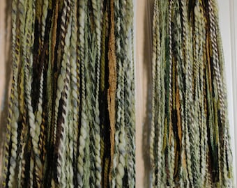 "Twisted Moss Tribal Hair Fall 24"" Set of Two"