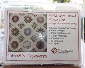 Harriets Treasures paper and template pack