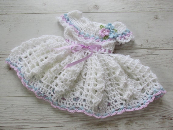 Neugeborenes Baby Mädchenkleid Kleid häkeln Baby Kleid