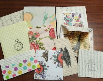 10 Pack Assorted Handmade Envelopes