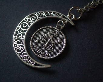 Moon Astrology libra necklace