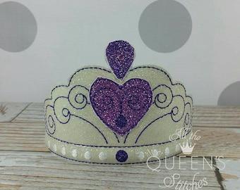 Princess Sofia tiara  - Costume Accessory - White Glitter Princess Sofia Inspired Dress-up Headband Tiara
