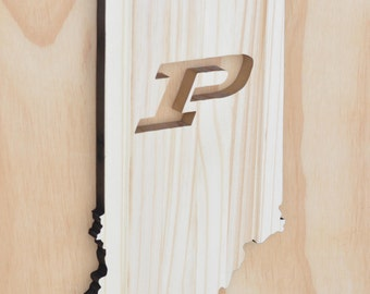Purdue Boilermakers Indiana State Wood Cutout