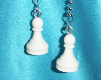 Set of Two ~ White Pawn Chess Game S-2 ~ Ceiling Fan Pulls