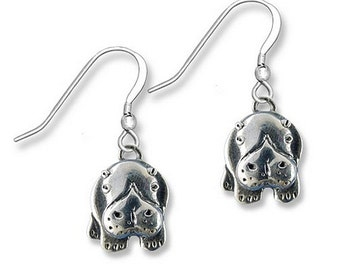 Sterling Silver Hippo Earrings