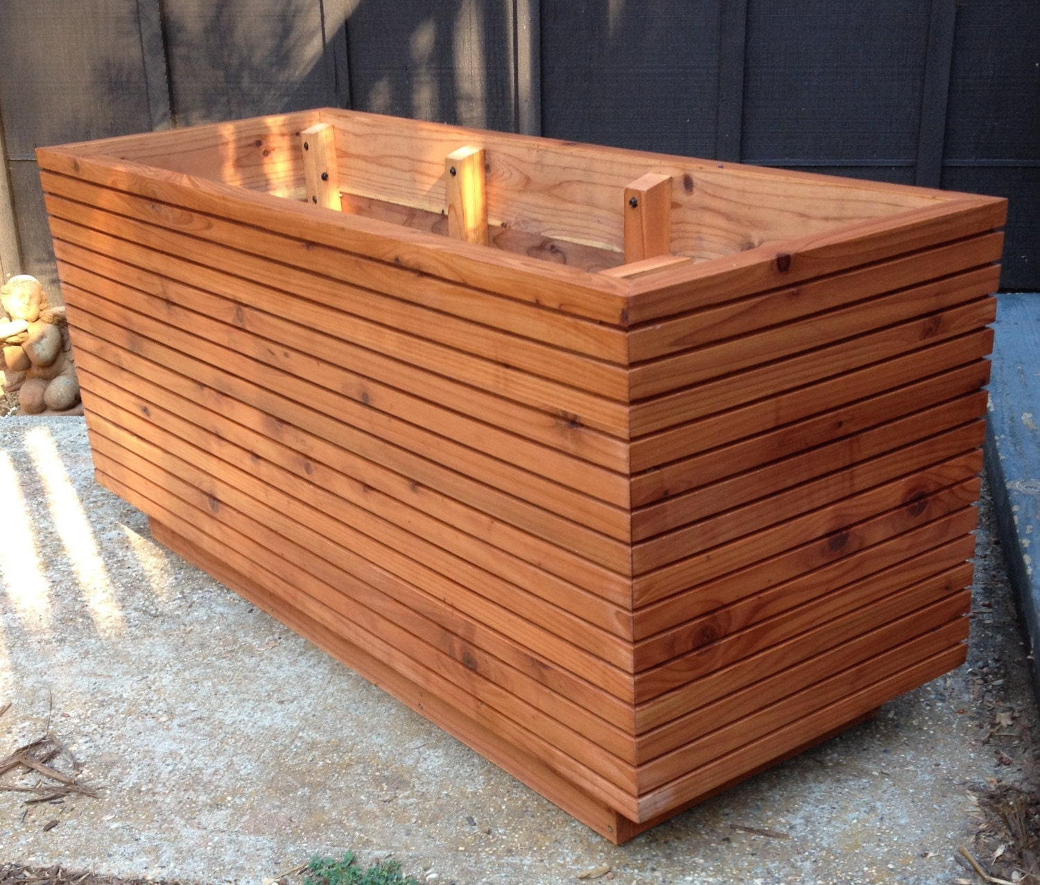 waterproof box and planters make s to how build planter wooden round a boxes description image