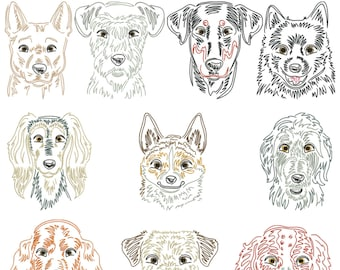 Dog breeds part 11 for the border 10x10cm