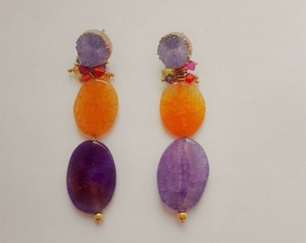 IRIS earrings, handmade