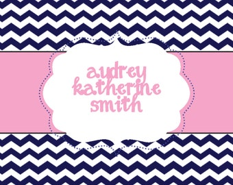 Square Chevron Calling Card