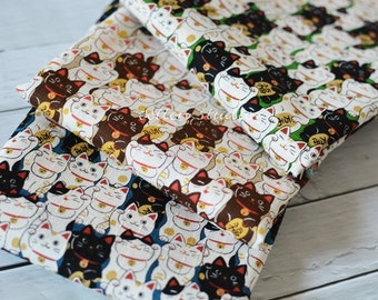 Japanese Fabric Cat Manekineko Fat Quarter Set