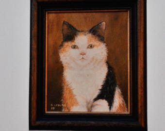 The little cat oil painting