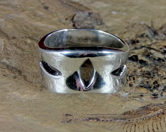 Mens Ring Sterling Silver Handmade Size 9.0, R0322