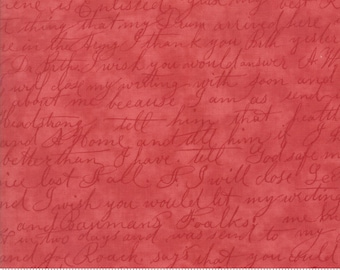 Poetry by 3 Sisters - (3728-30 - Rose) Quilting Fabric by the 1/2 Yard Increments