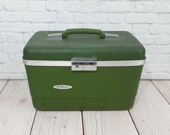 Vintage Green Train Case Forecast Cosmetics Case