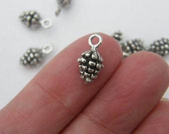 BULK 50 Pine cone charms tibetan silver L117