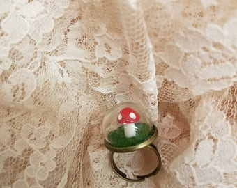 Antique Bronze Mushroom Dome Ring