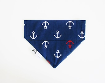 Anchor Dog Bandana Cat Bandana Slip on Collar