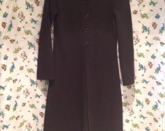 90s Black Wide Collared Mall Goth Duster