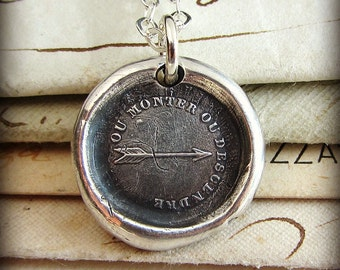 Arrow Wax Seal Necklace - Rise to the Occasion - Meaningful Jewelry - Wax Seal Jewelry by Shannon Westmeyer - FP350