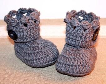 Crochet PATTERN - Holiday Boots