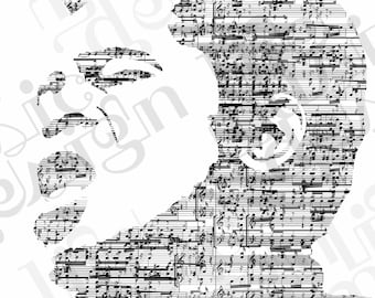 James Brown Music Print
