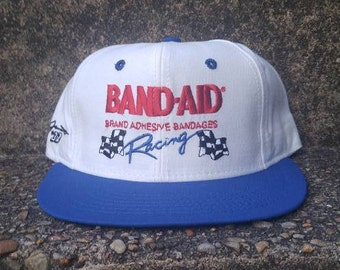 Vintage Bandaid Racing Hat