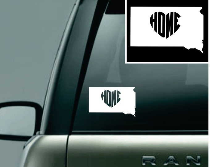 South Dakota Love Your State Car Decal